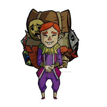 Happy Mask Salesman Wind Waker by Decapitated-Kittens