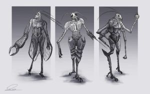 Character designs inspired by bugs by duncanli
