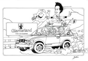 On the Road to Glarus - Ink - (2002) by SilvioGiacomini