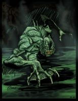 Monster of the black lagoon by alxelder