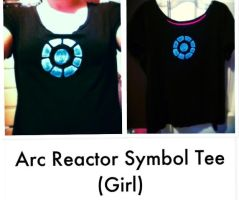 Iron Man- Arc Reactor Symbol Tee (Girl) by Lady-of-Ratatosk
