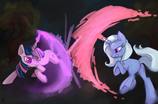 Alright Trixie... Let's Duel by dashleigh