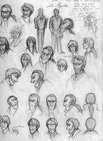 Les Miserables Sketchdump 3 by HelenaSun