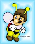 Bumble-bee Mario by dylrocks95