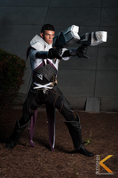 Lucian The Purifier Cosplay: Bullseyes by Winged-Mouz