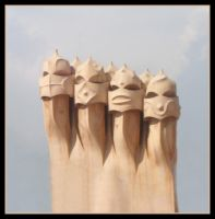 Gaudi Heads by rickda7th