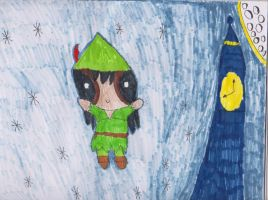 Michael Jackson as Peter Pan by coreena12