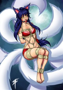 Ahri: Foxnapped by SneakAttack1221