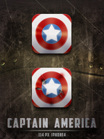 Captain America's Shield Icons by tonehal