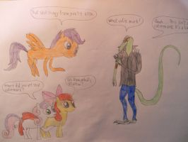 9 First Encounter:The Cutie Mark Crusaders by LacitheHunter