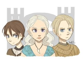 Game Of Thrones ladies by Amphany