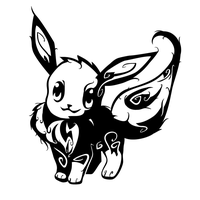 Tribal Eevee Tattoo by oykawoo