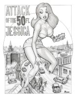 Attack of the 50 foot JESSICA by GOODGIRLART