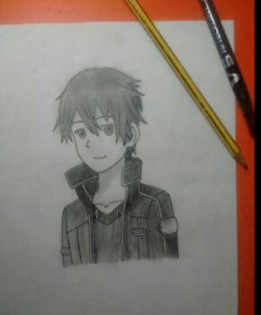 Mark Crilley style- Kirito by Ghang