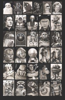 Sketchcards - March of Robots by artistjerrybennett
