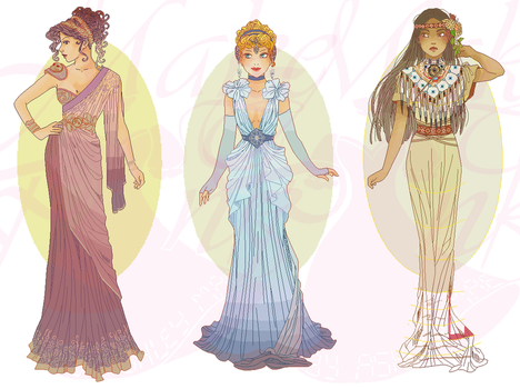 WIP3-Disney Mucha Patterns (Hannah-Alexander) SET6 by pinkythepink
