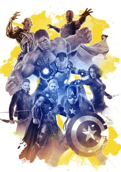 Avengers - Age of Ultron Art print by livin4life
