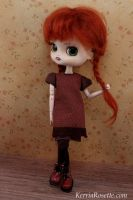 Brown Dress and Pinafore by KerriaRosette