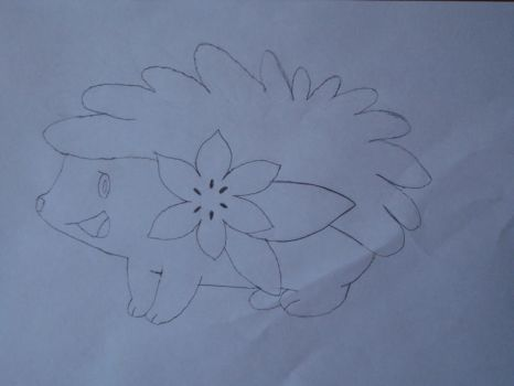 Shaymin, uncolored by Jameika314