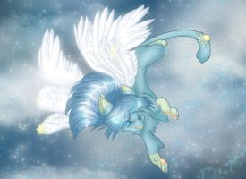 Winged Cat by Marji4x Colored by chesney