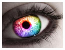 Rainbow Eye by MeganLeeRetouching