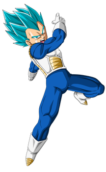Vegeta SSJBlue by SaoDVD