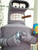 Bender and Bender Futurama by OlyRider