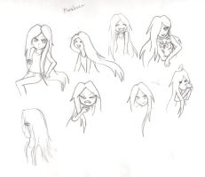 Uncolored Marceline by Wrath-MarionPhauna