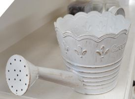 Watering Can White 2 by RecreateStock