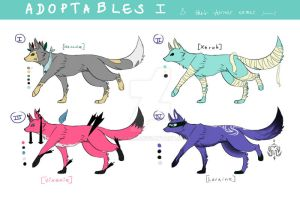 ADOPTABLES 1: OPEN! [ONE LEFT!!! - Reduced price] by devimu