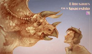 DW-Triceratops and Doctor by agathexu