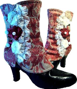 Red Baroque Spats by MAIDESTREASURIES