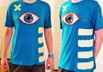 DIY shirt: Eye by Brokenopenseed