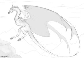 Smaug Sketch by NatalieDeCorsair