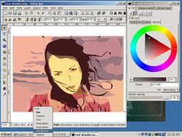 vector drawing by addon