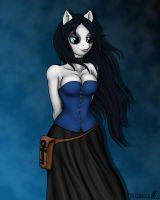 MLP Anthro - Morbid gets a picture. by FunkyBacon