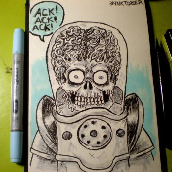INKtober - Mars Attacks by Cosmic-Rocket-Man