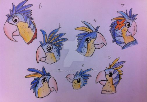 Juliet Parakeet concepts by Viperwings