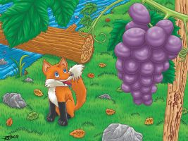 The fox and the grapes by Adrean-BC