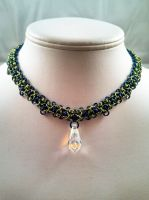 Small Green/Blue Byzantine Necklace by chainedoombaby