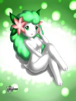 Pokemorph: Land Shaymin Girl by xenon001