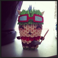 3D Origami: Teemo (League of Legends) by StaticCatnip