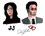 Jessica Jones and DareDevil by Saber-Cow