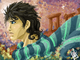Joseph Joestar Battle Tendency by Avielsusej