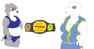Kara versus Coral Womens title by WhippetWild