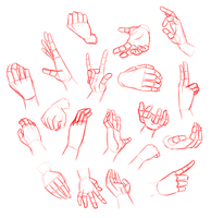 Hands Study by AOKStudio