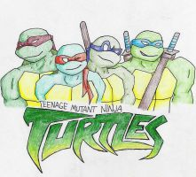 Teenage Mutant Ninja Turtles by iquackkers