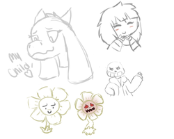 Undertale Sketches by SNlCKERS