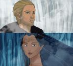 DAI-Disney style:Cullen Smith and Dalish(ANIMATED) by K-yon