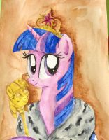 Princess Twilight Sparkle Royal Portrait by Denigirl